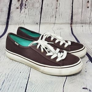 Keds Brown & White Double Up Canvas Sneakers